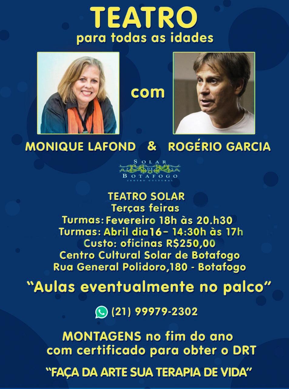 Aulas de Teatro no palco do Teatro Solar – Botafogo